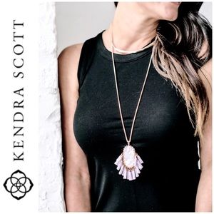 NWT Kendra Scott rose gold tone Graham necklace